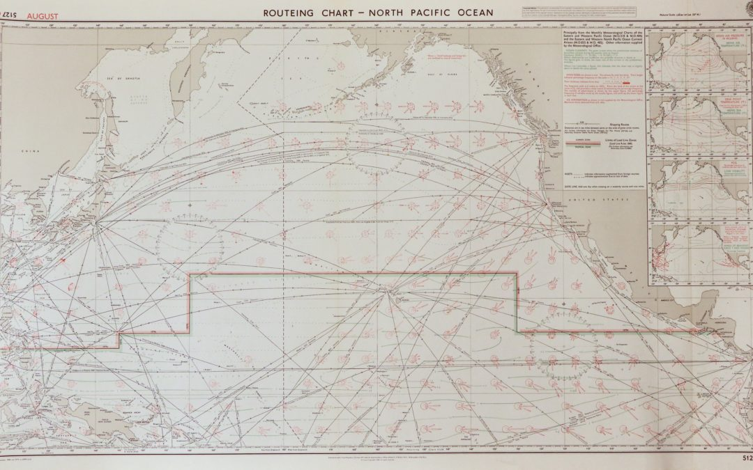 66 / Routeing Chart – North Pacific Ocean (August)