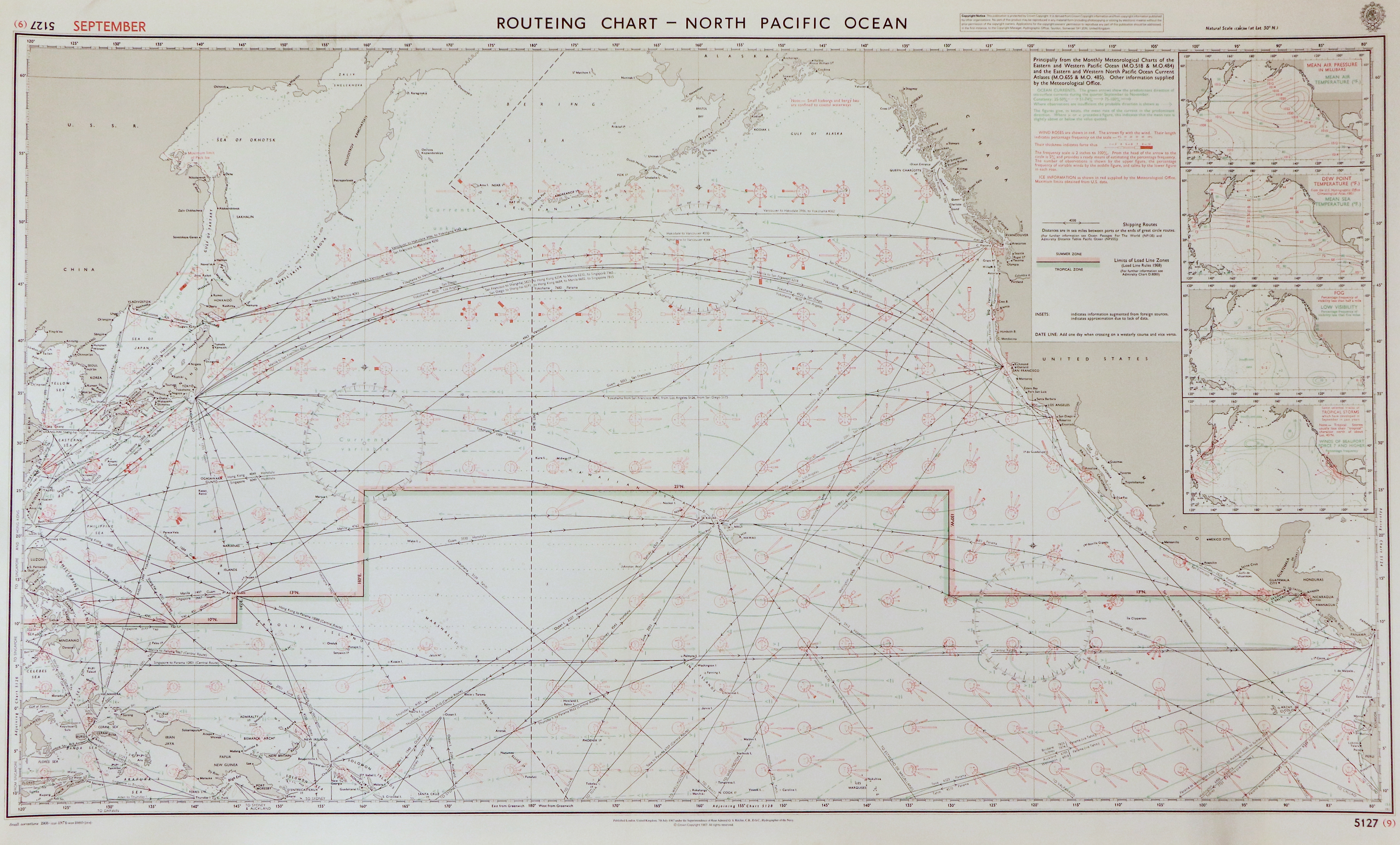71 - Routeing Chart - North Pacific Ocean (september)