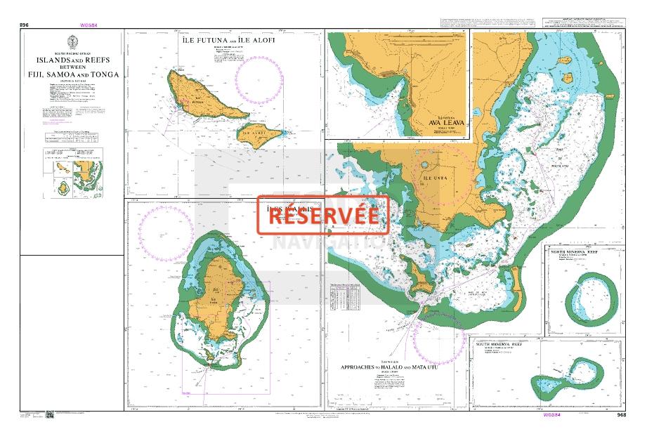 73 - Islands and reefs between Fiji, Samoa and TongaI